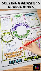 doodle notes fun way to practice solving quadratic equations