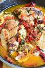 baked chicken with sun dried tomato pesto