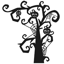 All svg & dxf files have been tested in cricut design space and silhouette studio. Spooky Tree Svg Scrapbook Title Svg Cutting Files Halloween Svg Cut File Halloween Cute Files For