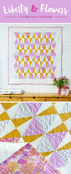 Free Quilt Patterns & Free Pattern - Liberty and Flowers Quilt by Suzy Williams Adamdwight.com