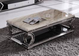 Modern Marble Coffee Table New Heart Shaped Stainless Steel Foot Rectangular Marble Coffee