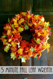 Fall Wreath - a quick and easy idea | Fall leaves, Front doors and ...