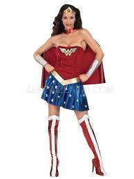 Beautiful Wonder Woman Diana Lycra Shiny Metallic Super Hero