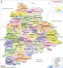 Distance Between States Chart Telangana State Map Districts Information Travel Destinations