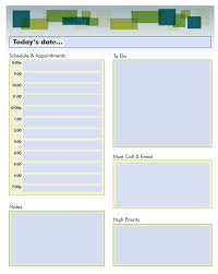 023 Template Ideas Daily Schedule Word Modern Planner Mnqgox