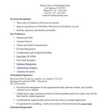 Secretary Resume Cover Letter Receptionist Cover Letter Example Executive Uk Cover Letter Bus 24
