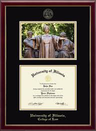University Of Illinois Diploma Frames For College Of Law Church