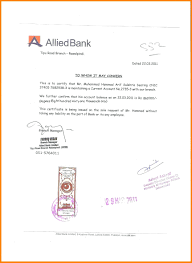 Template Letter Of Attestation Template Bank Certification Sample