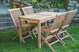 solid teak patio table decco co intended for garden furniture idea 8