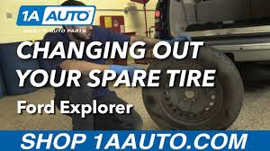 2006 ford explorer tires size how to change spare tire 06 ford explorer youtube