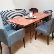 Tisch Mit Holzplatte Und Eisengestell