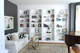 built in wall shelves around fireplace how to build bookcases from billy bookshelves library makeover charcoal built in wall shelves