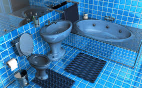blue bathroom designs. Admirable Glossy Blue Square Tile Bathroom Ideas Also Shiny Ceramic Bathtub Toilet And Pedestal Sink Cool Features 2017 Designs