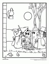 peanuts trick or treat 232x300 it's the great pumpkin charlie brown coloring pages woo! jr on charlie brown winter coloring pages