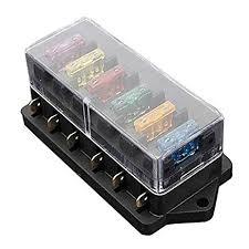 amazon com blade fuse box toogoo(r) 6 way fuse holder box car fuse box car charger blade fuse box toogoo(r) 6 way fuse holder box car vehicle circuit