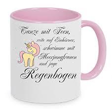 Kaffe Tasse Sprüche Meerjungfrau Keramik Bedruckt Büro Schreibwaren