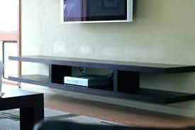 floating shelf tv stand under