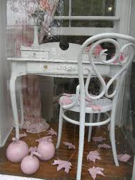vintage shabby chic desk with lovely appliques shabby chic style home office chic vintage home office
