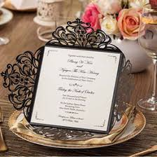 discount chinese blank wedding invitations 2017 chinese blank Discount Blank Wedding Invitations black wedding invitations blank laser cut flora invitation cards for birthday business party 50pc free customized printing wedding supplies cheap blank wedding invitations