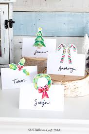 Free Name Cards Free Printable Christmas Place Cards Sustain My Craft Habit