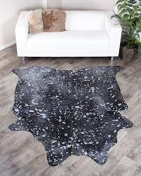 small silver metallic brazilian cowhide rug 236 31 sq