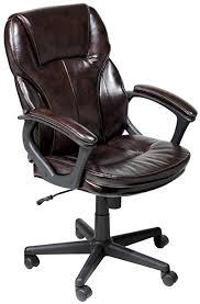 C Serta Faux Leather Executive Chair Roasted Chestnut