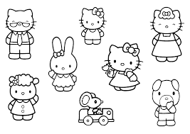 Print Hello Kitty Friends And Family Coloring Pages or Download ...