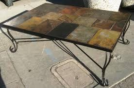 astonishing slate tile coffee table set u setting design pict of ideas and end styles slate