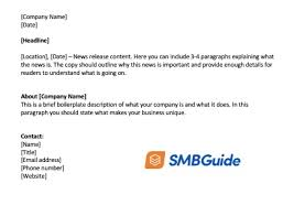 Business Press Release Template How To Write A Press Release With Free Template