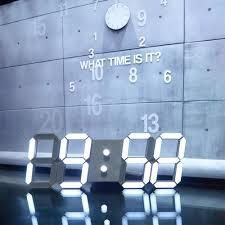Small Picture Large Modern Design Digital Led Skeleton Wall Clock Timer 2412 3D