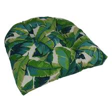 Blazing Needles 19 inch U shaped Tufted Outdoor Chair Cushion