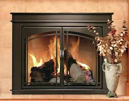 glass door for fireplace cabinet style fireplace screen and arch prairie smoked glass door gas fireplace