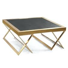 armen living coffee table living jasper modern coffee table in gold with black wood armen