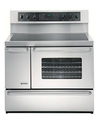 Side By Side Oven Electric Range Side By Side Double Oven Range Kitchen  Transitional With Black