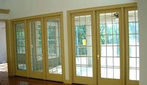 3 panel patio door craftsman window installation 3 panel sliding patio door with built in