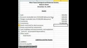 sample balance sheet for non profit nonprofit balance sheet nonprofit balance sheet hobieanthony sheet
