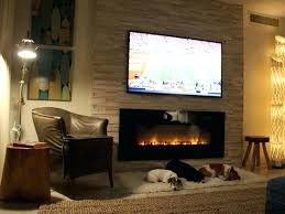 mount tv on stacked stone fireplace no studs wall mounted electric