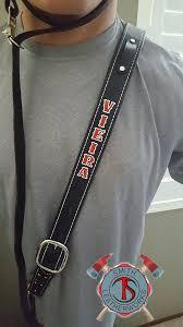 leather radio strap straps custom boston reflective combo leather radio strap