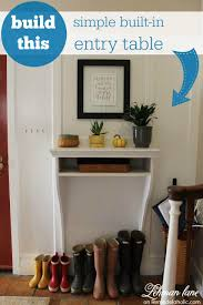 cheap entryway tables. This Built-in Entryway Table Is Perfect For A Small Entry! It Takes Up Cheap Tables S