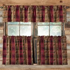 rustic curtains and cabin window treatments for rustic kitchen decor ideas