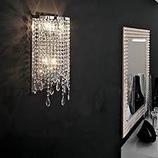 Lighting sconces for living room Luxury Wall Image Unavailable Amazoncom Siljoy Modern Elegant Crystal Wall Sconce Contemporary Wall Light