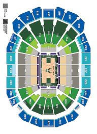 Milwaukee Bucks Detailed Seating Chart Seating Maps Milwaukee Bucks
