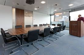 office rooms. BDO Large Accounting Firm Office Refurbishment. Presenting Room With Screen. Comfortable Boardroom, Rooms