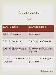 Презентация на тему Контрольная работа А П Чехов Отцы  Контрольная работа 2 1