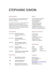 Short Resume Awesome Stephanie Simon Short Resume