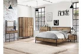 chic industrial furniture. Birlea Industrial Urban Bedroom Range With Metal Frames - Bedside, Storage, Beds Chic Furniture