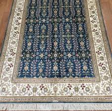 6 4 vintage persian style hand knotted kashmir all over silk rugs bedroom carpet classico rugs