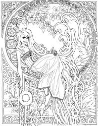 Tangled Nouveau Coloring Page