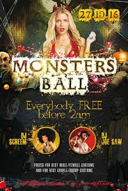 Halloween Dance Flyer Templates Monsters Ball Party Free Psd Flyer Template Download For