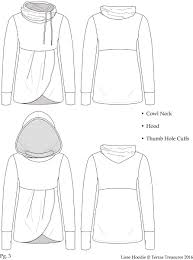Sweatshirt Pattern New Girls Lisse Cowl And Hoodie New Horizons Designs